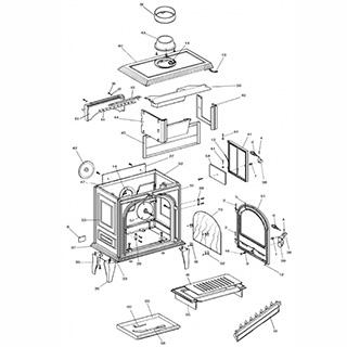 franco belge camargue grate part number 308710 camargue grate. Black Bedroom Furniture Sets. Home Design Ideas