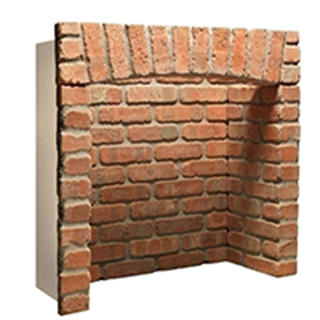 Standard Rustic Brick Fireplace Chamber With Top Arch Returns